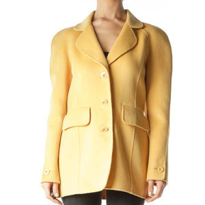 St. John sewn by hand angora wool blend coat sz 4
